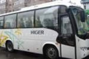 33座苏州金龙旅游车闯关东往返