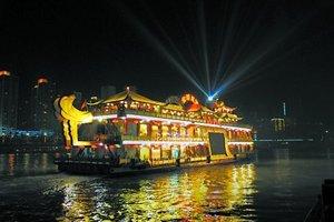 重庆夜景两江游船票销售中心【金碧皇宫号】新超豪华