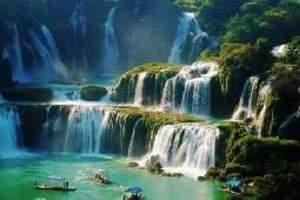 呼和浩特到捷克旅游|德天瀑布、通灵大峡谷中广西地图旅游攻略图片