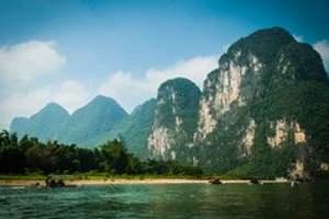 扬州到桂林古东瀑布、独秀峰、阳朔兴坪漓江、浪漫西街双飞4天