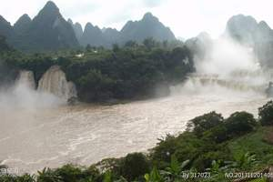 广西旅游景点/德天通灵、巴马寿乡、北海银滩5日游