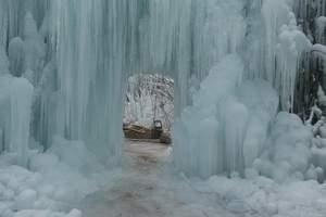 石家庄到哪去看冰瀑|冬季沕沕水汽车一日游 推出赏冰瀑旅游团