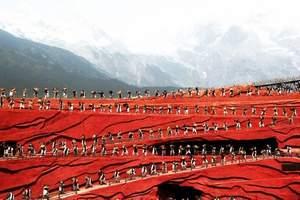 玉龙雪山大索道+冰川公园+蓝月谷+印象丽江纯玩送雪山三宝