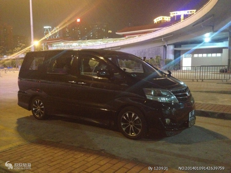 香港粤港两地车7、8座丰田阿尔法商务车_租车多少钱