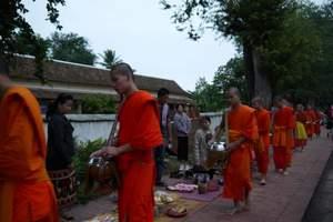 成都直飞去老挝琅勃拉邦双飞5日游_琅勃拉邦光西瀑布