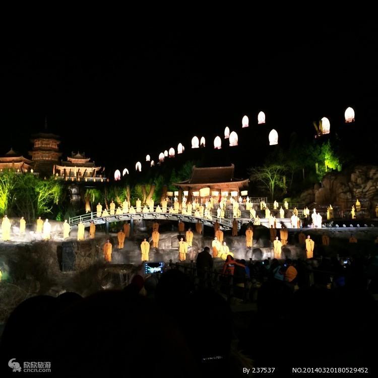 河南登封少林寺——大型实景演出——禅宗音乐大典