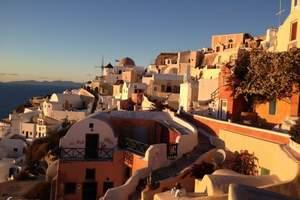 北京到希腊雅典、圣托尼里悬崖酒店、扎金索斯、沉船湾十日蜜月游