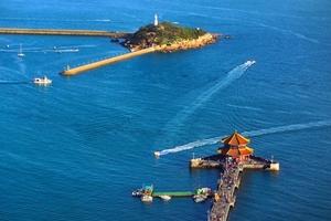 青岛市内 五四广场 海底世界一日游  空调大巴