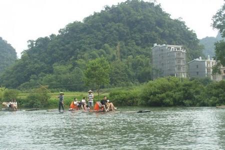 泰安到桂林阳朔大漓江、遇龙河漂流、龙脊梯田、红溪瀑布双飞五日