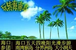 海南五天四晚阳光漫步游 一晚温泉特色酒店 南湾猴岛+大小洞天