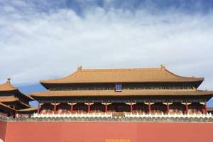 天津到北京故宫旅游多少钱、天安门盛景、故宫一日游