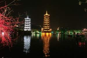 天津到桂林旅游特价、漓江阳朔、南溪山公园、侗家古寨双卧六日游