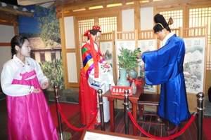 【纯玩长白山一日游】民族村参吃餐看表演/瀑布/温泉群/大关东