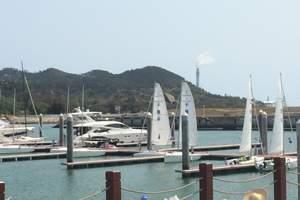 厦门帆船出海体验 途径白海豚生活区远观大小金门