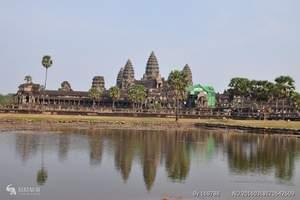 北京直飞到柬埔寨旅游、大小吴哥窟、塔普伦寺、国王宫三晚五日游