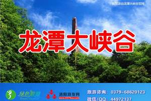 地接散客-洛阳到龙潭大峡谷一日游 散客每天发团 市区免费接送
