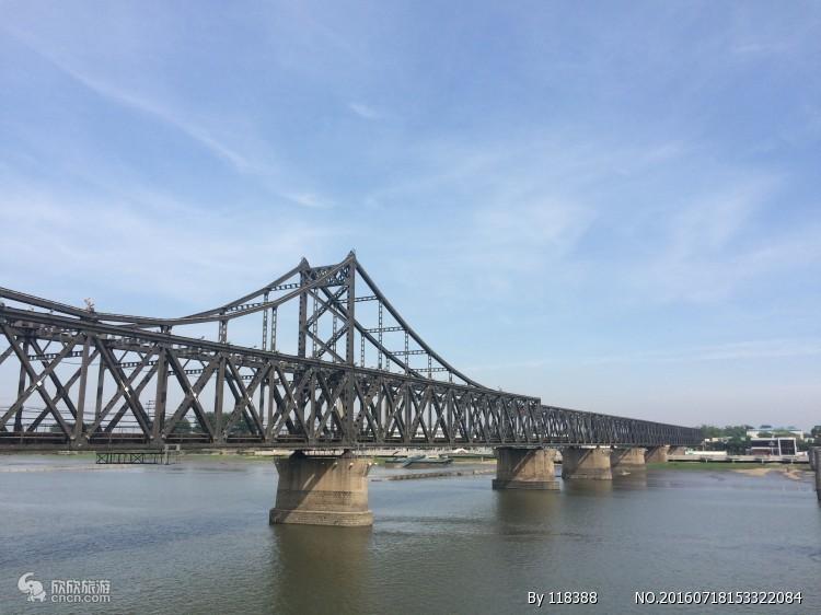 丹东半日游_虎山长城_中朝边境一步跨_朝鲜内河游船