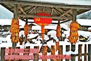 哈尔滨冰灯雪雕亚布力滑雪童话雪乡品质无购物六日游-哈尔滨旅游