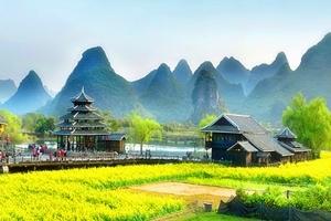 广西经典线路_德天瀑布、通灵峡谷、巴马、桂林漓江精华7日游