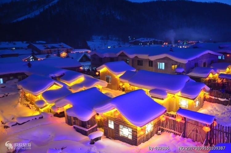 东北雪乡、哈尔滨、亚布力滑雪双飞6日游丨0购物0自费