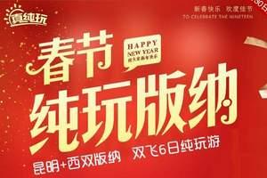 春节云南<纯玩版纳>郑州到昆明、西双版纳休闲游5晚6天跟团游