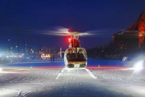 哈尔滨开通低空冰雪旅游航线 坐着直升机鸟瞰冰雪美景