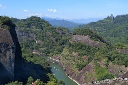 福州到武夷山 天游九曲溪、虎啸岩一线天,含水秀 三日游