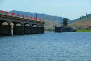丹东一日游_鸭绿江沿线边界风光_河口景区登断桥、坐游船
