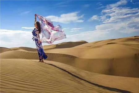 内蒙古希拉穆仁大草原 库不其沙漠成吉思汗陵三日游市内免费接送
