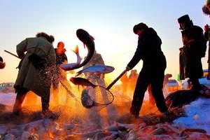 长春到查干湖旅游 查干湖观冬捕一日游 长春到查干湖冬季旅游团