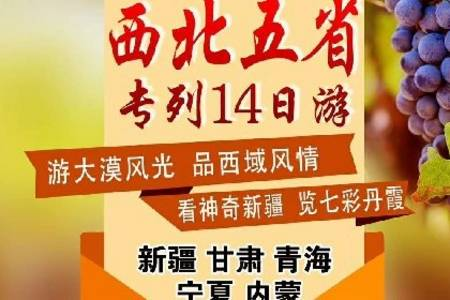 2020年北京到西部五省新疆老年夕阳红旅游专列14日游