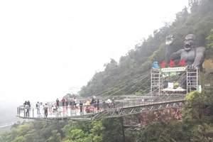 清远水晶弹野战、卡丁车天子山瀑布、滑道、黄腾峡天门悬廊2天游