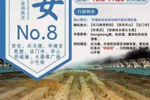 北京到西安、乾陵、法门寺、华山、兵马俑、华清宫双卧六日游