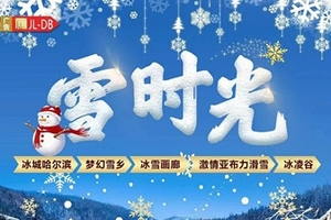 北京到哈尔滨、雪乡、亚布力、冰雪画廊、雪地温泉 双卧6日游
