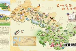 """甘肃:旅游手绘图成游客丝路打卡""""新攻略"""""""